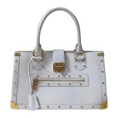 Louis Vuitton White Suhali Le Fabuleux Bag