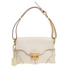 Louis Vuitton White Suhali Leather L'Essentiel PM Bag
