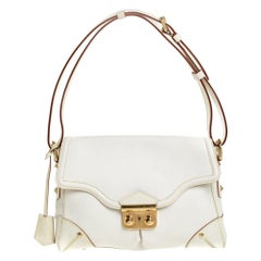 Louis Vuitton White Suhali Leather L'Essentiel PM Bag