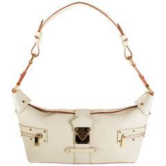 Louis Vuitton White Suhali Leather L'Impetueux Bag