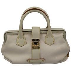 "Louis Vuitton White Suhali Leather ""L'ingenieux"" Handbag"