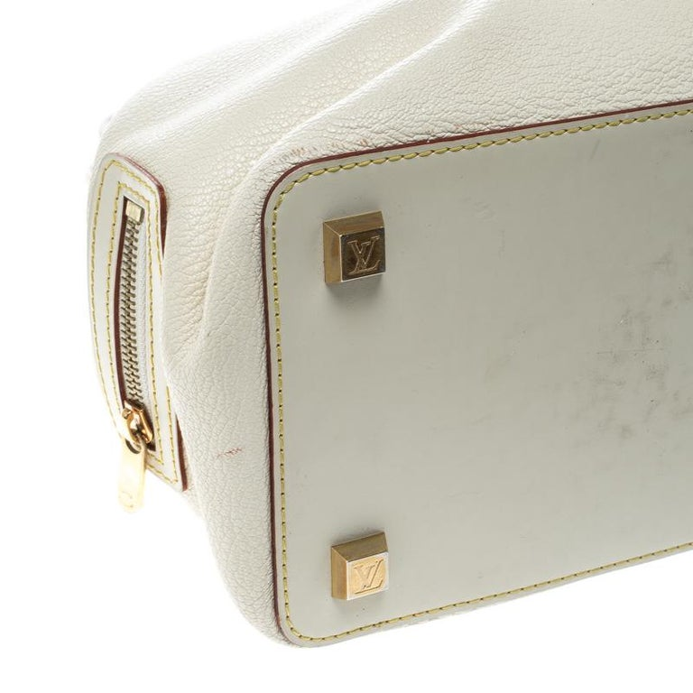 Louis Vuitton White Suhali Leather L'Ingenieux PM Bag For Sale 6