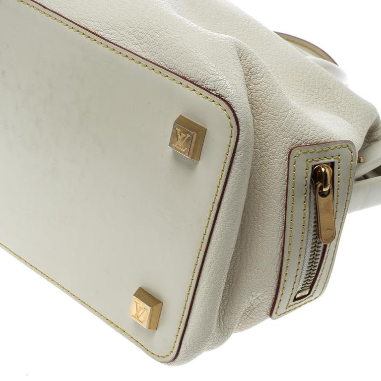 Louis Vuitton White Suhali Leather L'Ingenieux PM Bag For Sale 7