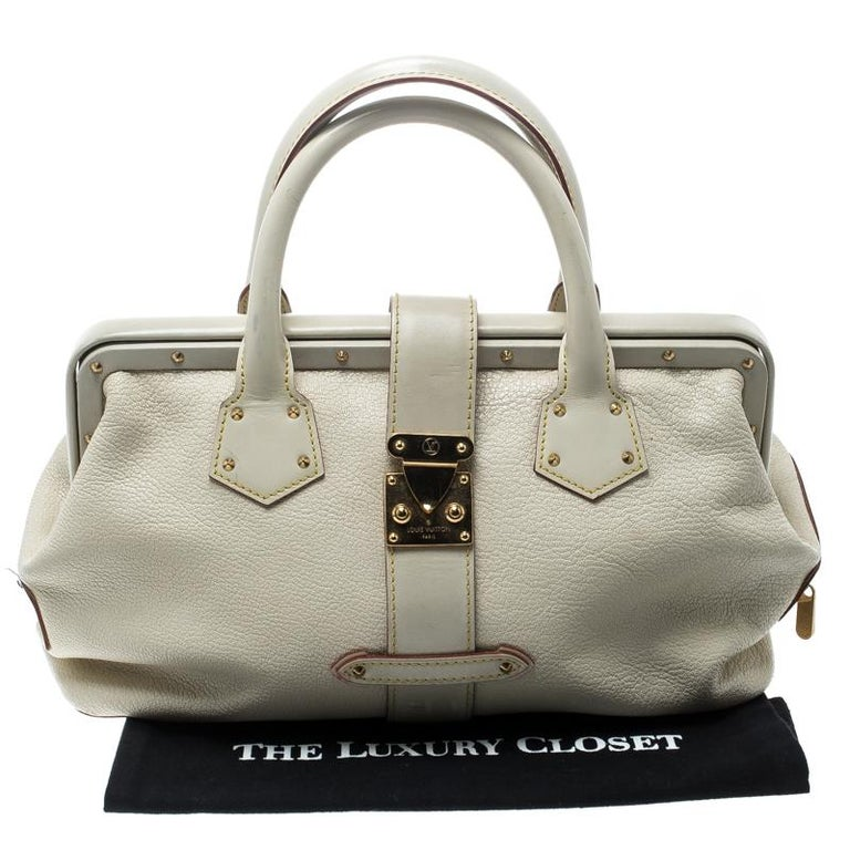 Louis Vuitton White Suhali Leather L'Ingenieux PM Bag For Sale 8