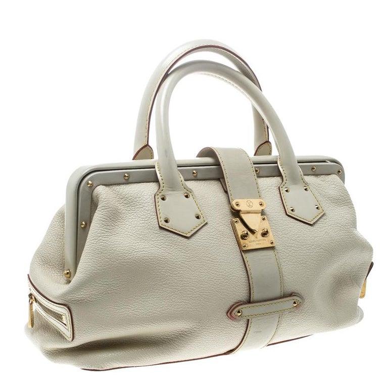 Women's Louis Vuitton White Suhali Leather L'Ingenieux PM Bag For Sale