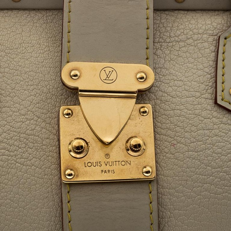 Louis Vuitton White Suhali Leather L'Ingenieux PM Bag For Sale 1