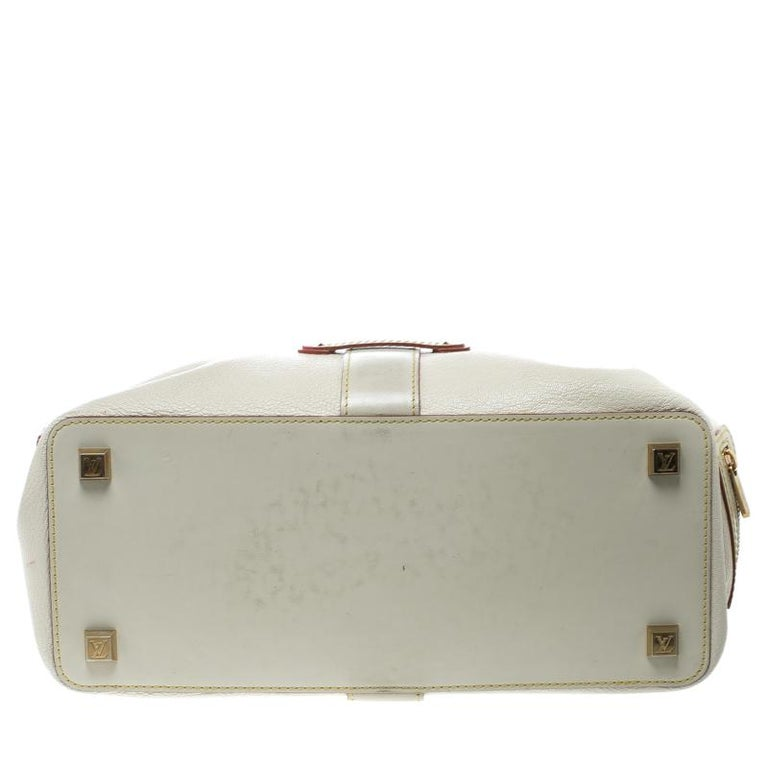 Louis Vuitton White Suhali Leather L'Ingenieux PM Bag For Sale 2