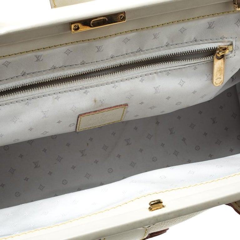 Louis Vuitton White Suhali Leather L'Ingenieux PM Bag For Sale 3