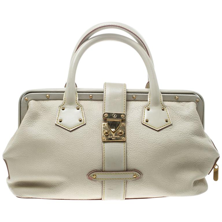 Louis Vuitton White Suhali Leather L'Ingenieux PM Bag For Sale