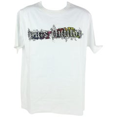 Louis Vuitton White (Ultra Rare) Virgil Abloh Wizard Oz Spiral Tee Shirt 7lz1023