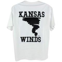 Louis Vuitton White (Ultra Rare)  Wind Oz Virgil Abloh T-shirt 9lz1023 Tee Shirt