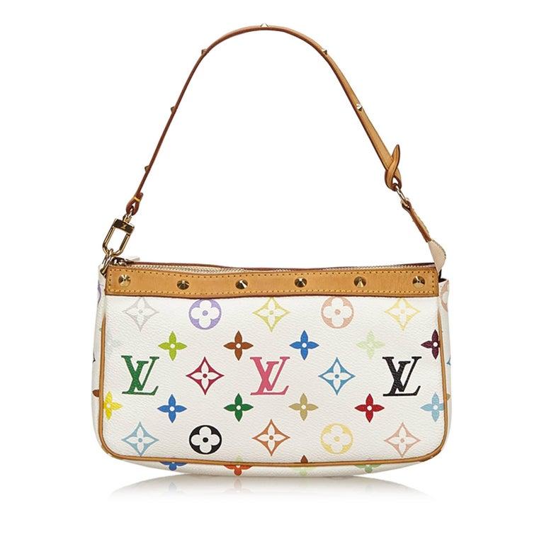 bf7a229eeefa Louis Vuitton White x Multi Monogram Multicolore Pochette Accessoires In  Good Condition For Sale In Orlando