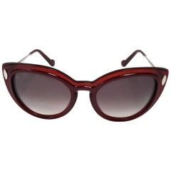 Louis Vuitton Willow Cat's Eye Burgundy Sunglasses