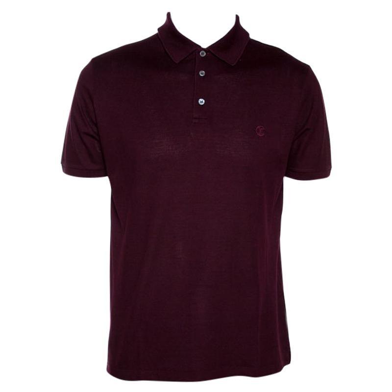 Louis Vuitton Wine Cotton Pique Polo T Shirt L