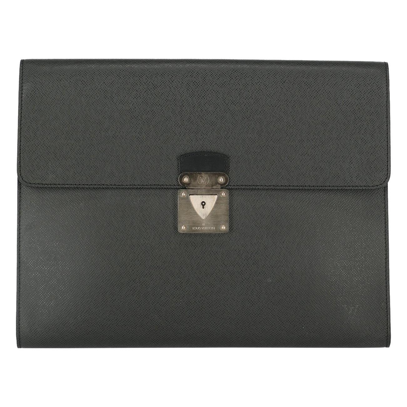 Louis Vuitton Woman Briefcase Black Leather