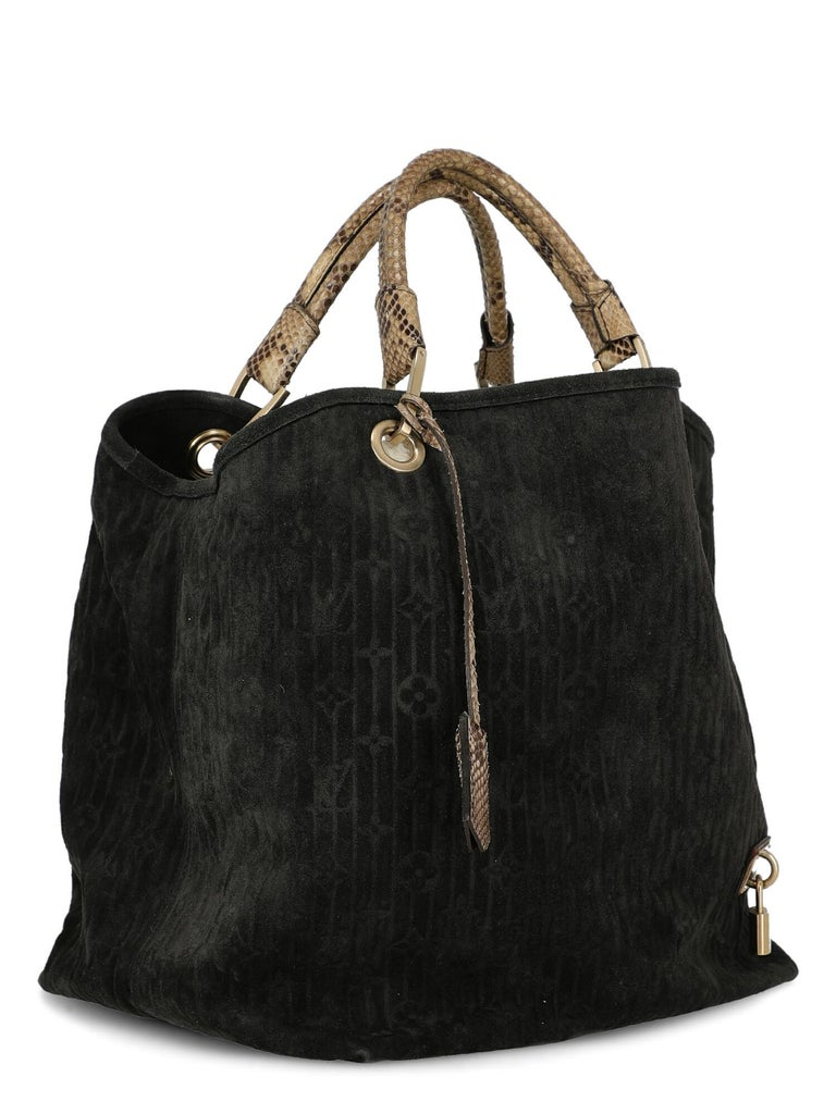 Louis Vuitton Woman Handbag  Black Leather In Fair Condition For Sale In Milan, IT