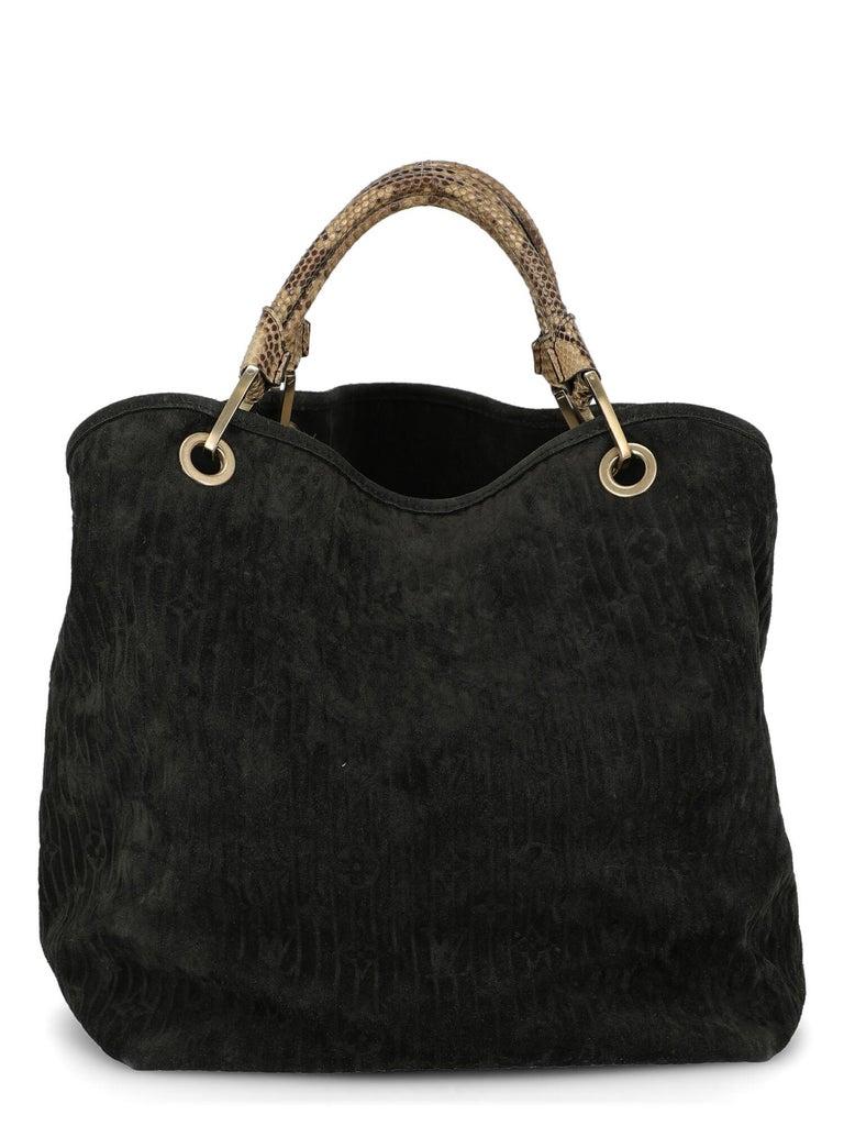 Women's Louis Vuitton Woman Handbag  Black Leather For Sale