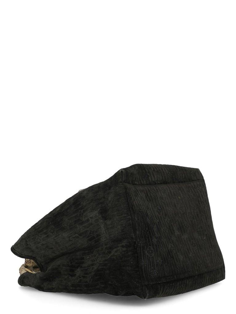 Louis Vuitton Woman Handbag  Black Leather For Sale 1