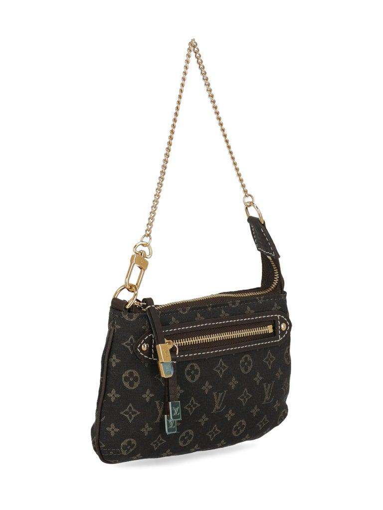 Black Louis Vuitton Woman Handbag Brown Cotton For Sale