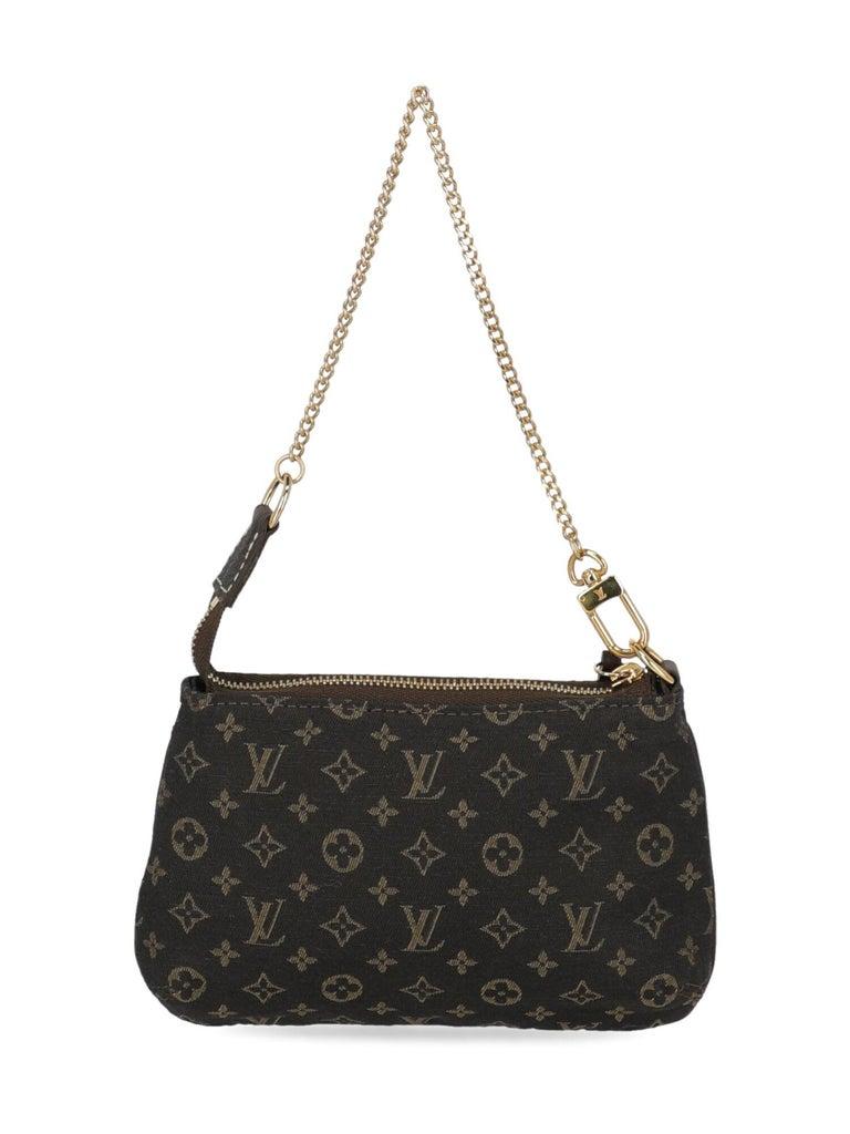 Louis Vuitton Woman Handbag Brown Cotton In Excellent Condition For Sale In Milan, IT