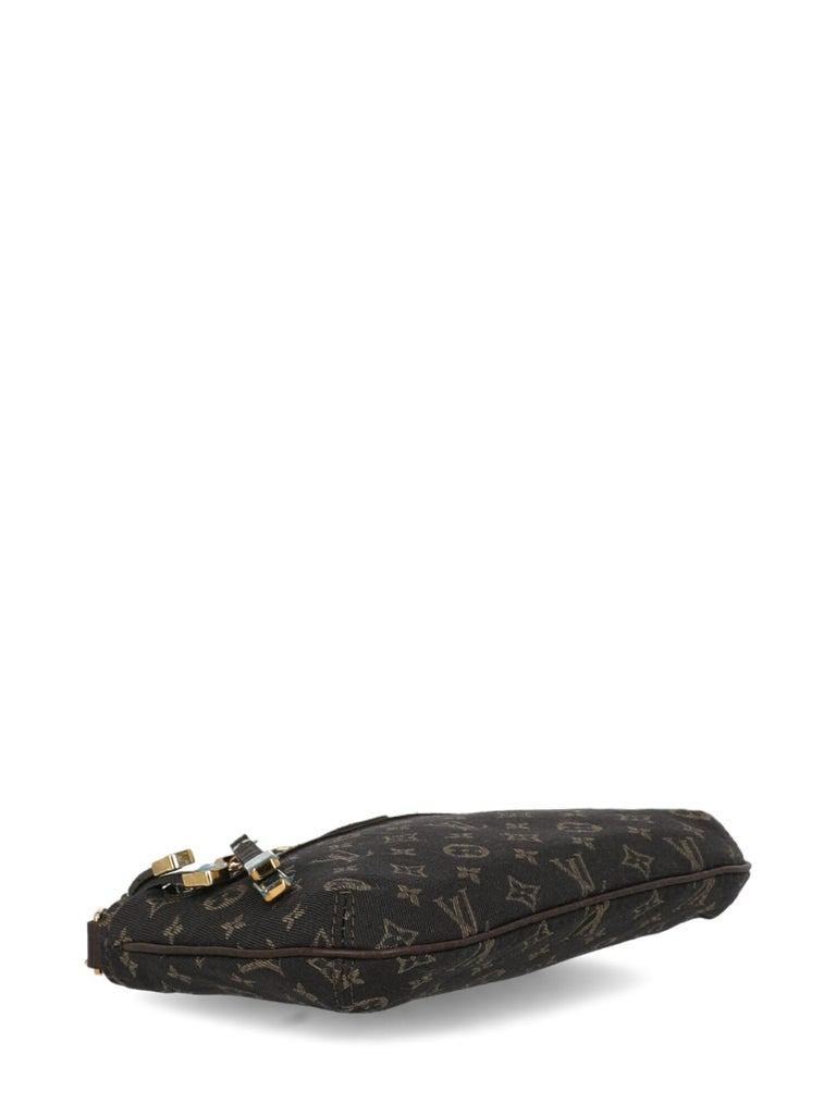 Women's Louis Vuitton Woman Handbag Brown Cotton For Sale