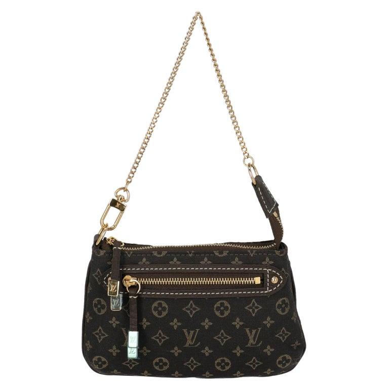 Louis Vuitton Woman Handbag Brown Cotton For Sale
