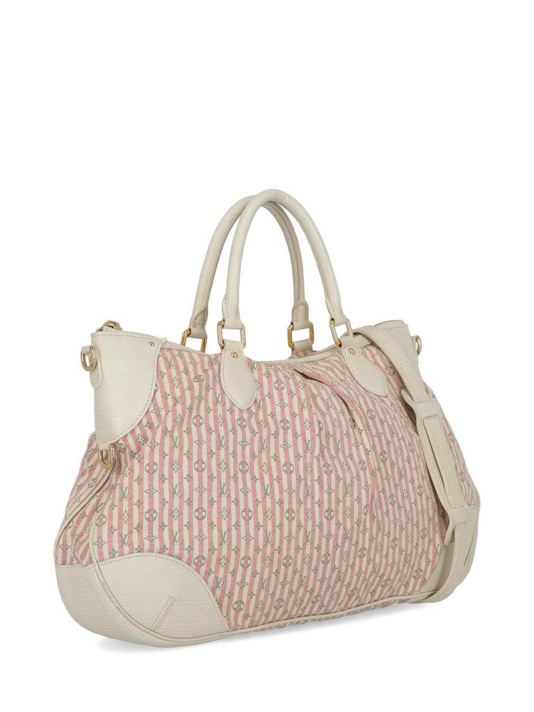 Beige Louis Vuitton Woman Handbag Croisette Ecru Cotton For Sale