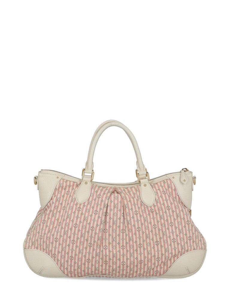 Louis Vuitton Woman Handbag Croisette Ecru Cotton In Fair Condition For Sale In Milan, IT