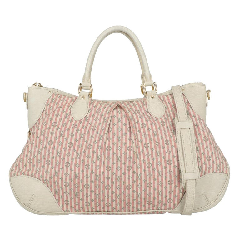 Louis Vuitton Woman Handbag Croisette Ecru Cotton For Sale