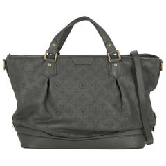 Louis Vuitton Woman Handbag Mahina Grey Leather