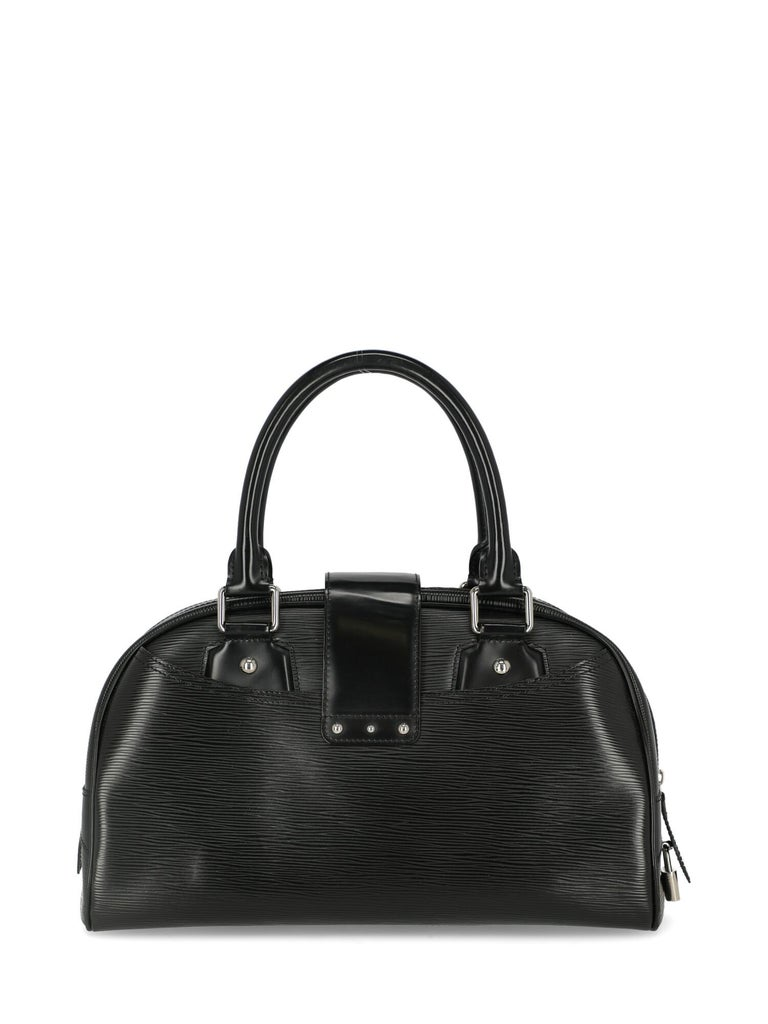 Women's Louis Vuitton Woman Handbag Montaigne Black Leather For Sale