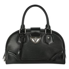 Louis Vuitton Woman Handbag Montaigne Black Leather