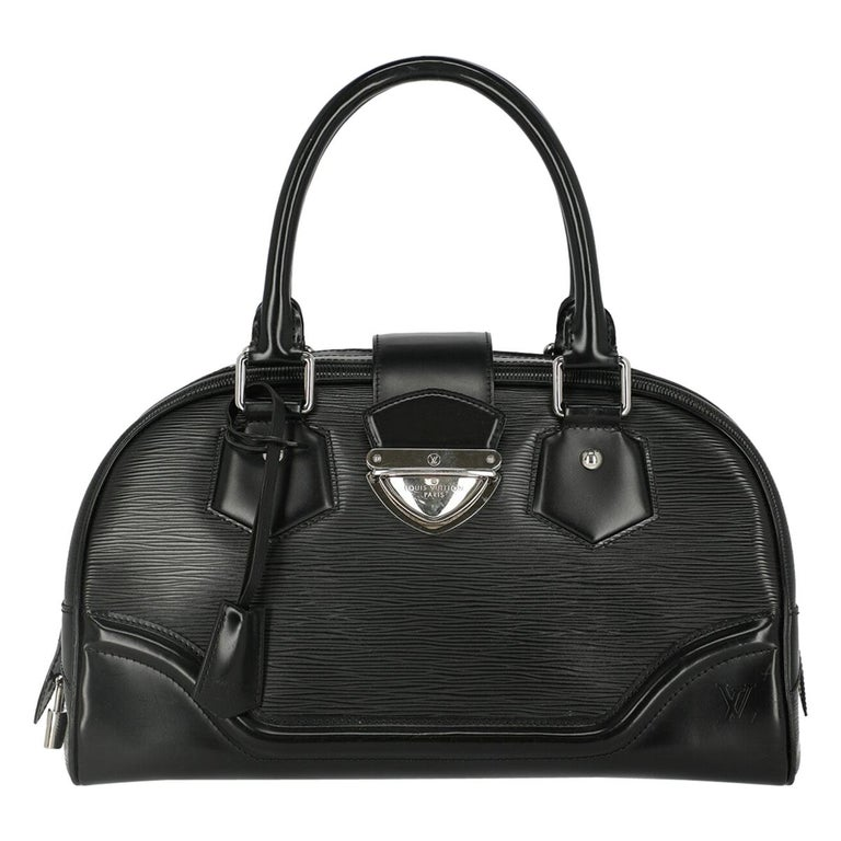 Louis Vuitton Woman Handbag Montaigne Black Leather For Sale