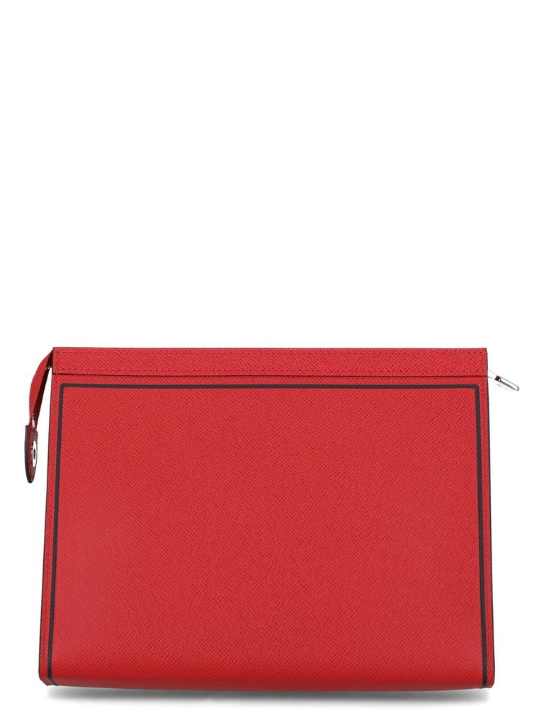 Women's Louis Vuitton Woman Handbag  Red Leather For Sale