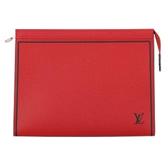 Louis Vuitton Woman Handbag  Red Leather