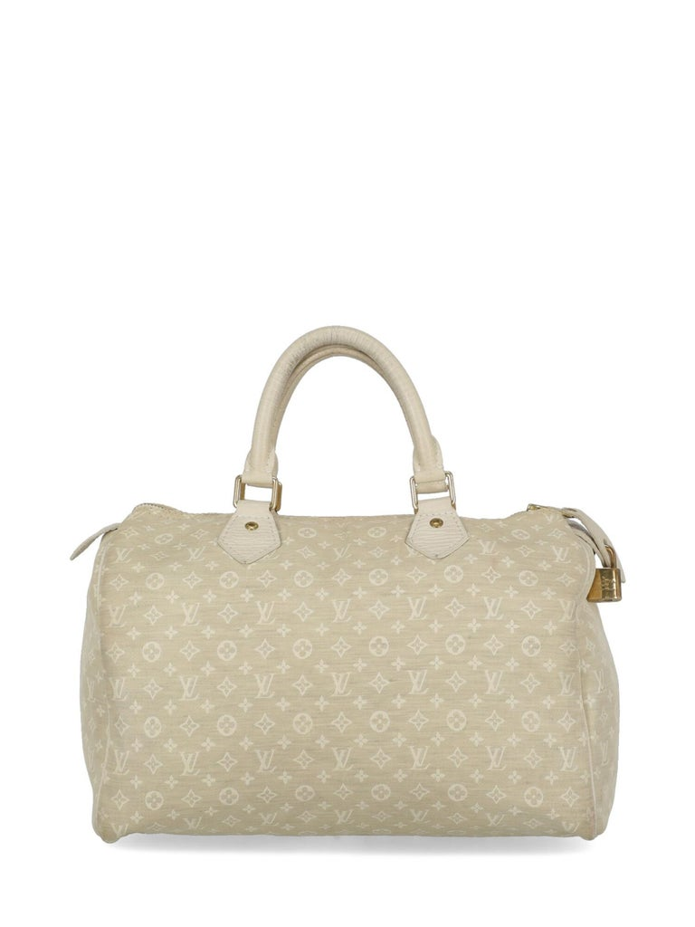 Women's Louis Vuitton Woman Handbag Speedy 30 Beige Fabric For Sale