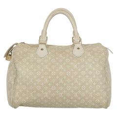 Louis Vuitton Woman Handbag Speedy 30 Beige Fabric