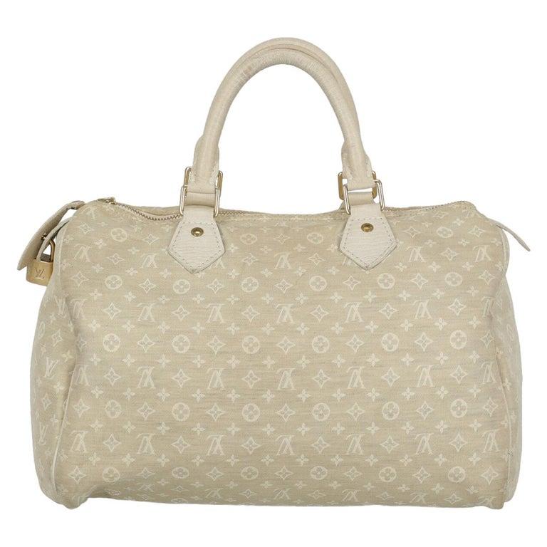 Louis Vuitton Woman Handbag Speedy 30 Beige Fabric For Sale