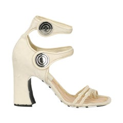 Louis Vuitton Woman Sandals Ecru Leather IT 40