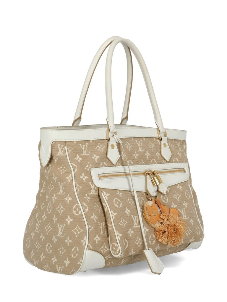 Louis Vuitton Woman Shoulder bag Beige Fabric In Fair Condition For Sale In Milan, IT