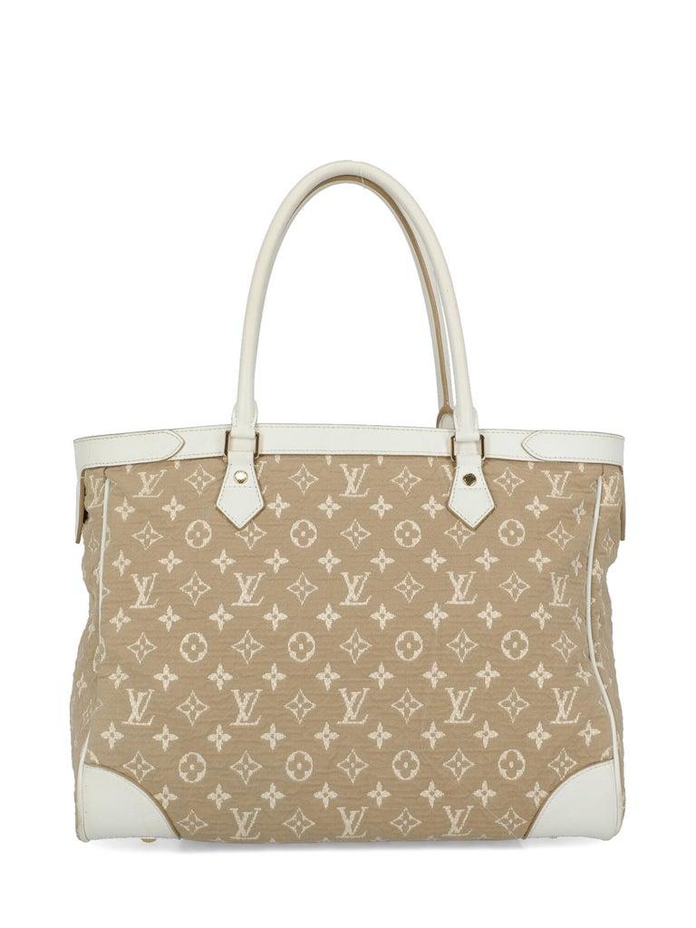 Women's Louis Vuitton Woman Shoulder bag Beige Fabric For Sale