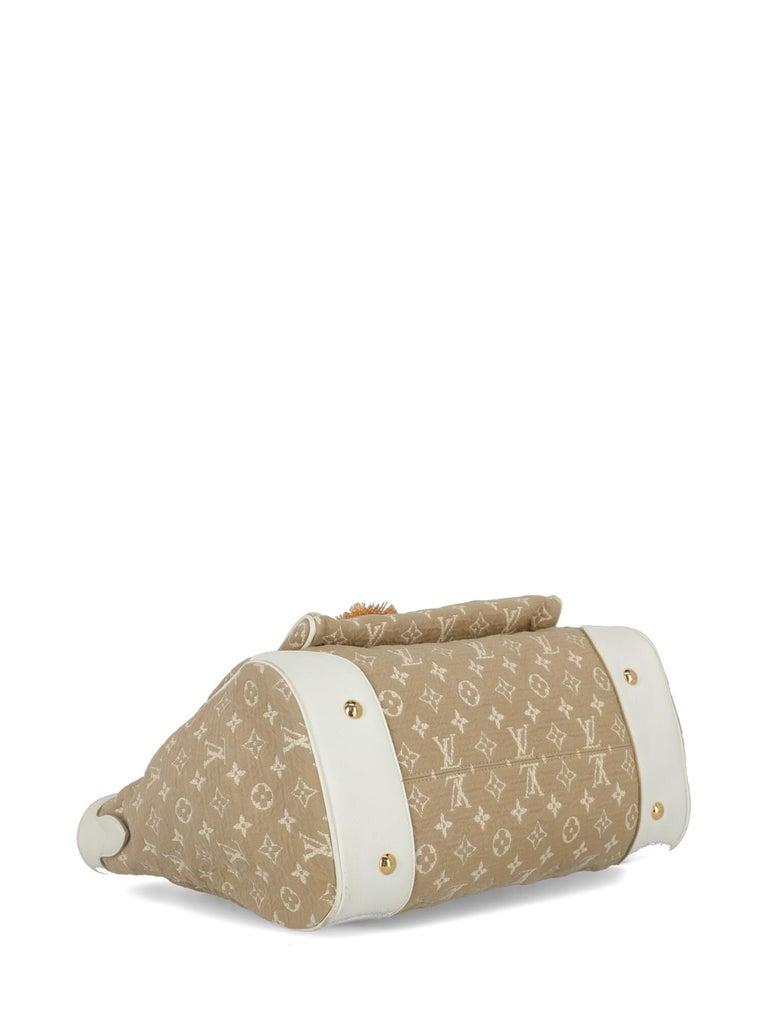 Louis Vuitton Woman Shoulder bag Beige Fabric For Sale 1