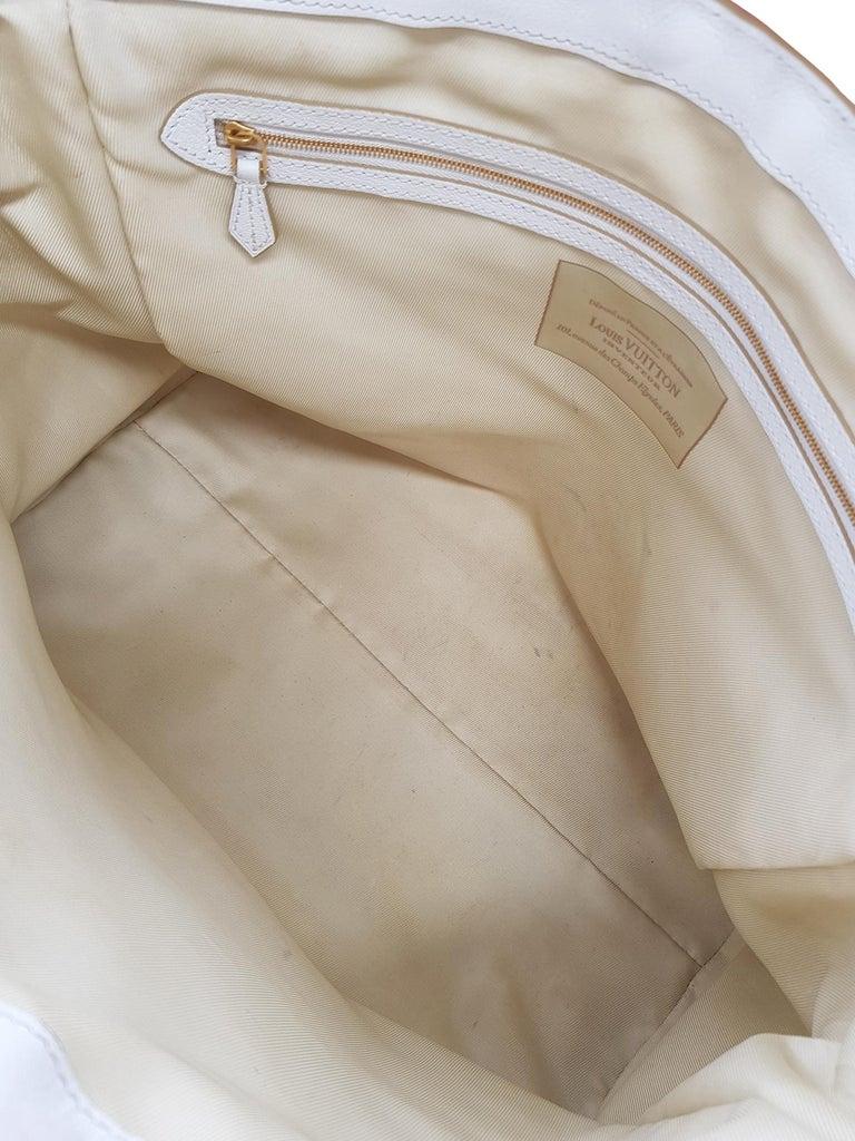 Louis Vuitton Woman Shoulder bag Beige Fabric For Sale 2