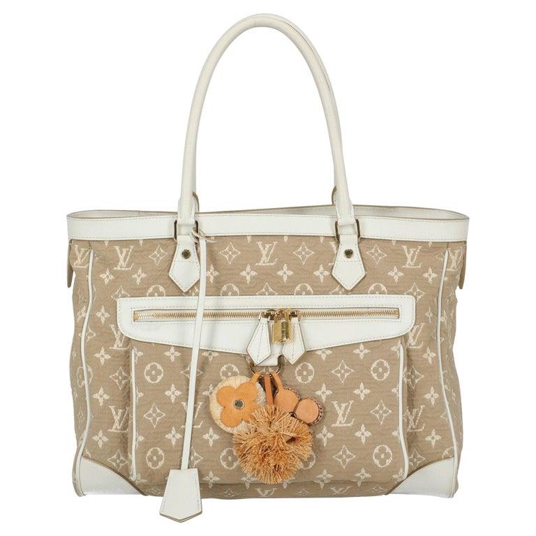 Louis Vuitton Woman Shoulder bag Beige Fabric For Sale