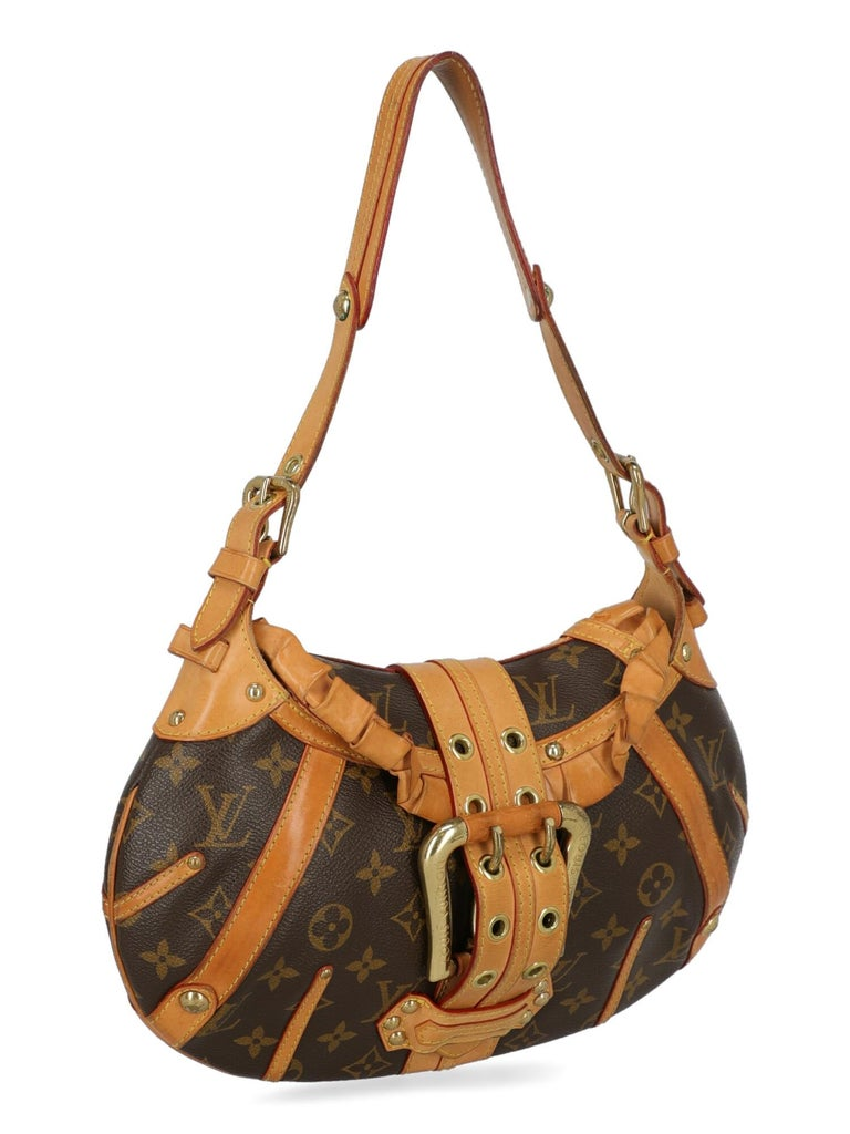 Louis Vuitton Woman Shoulder bag Brown Synthetic Fibers In Fair Condition For Sale In Milan, IT