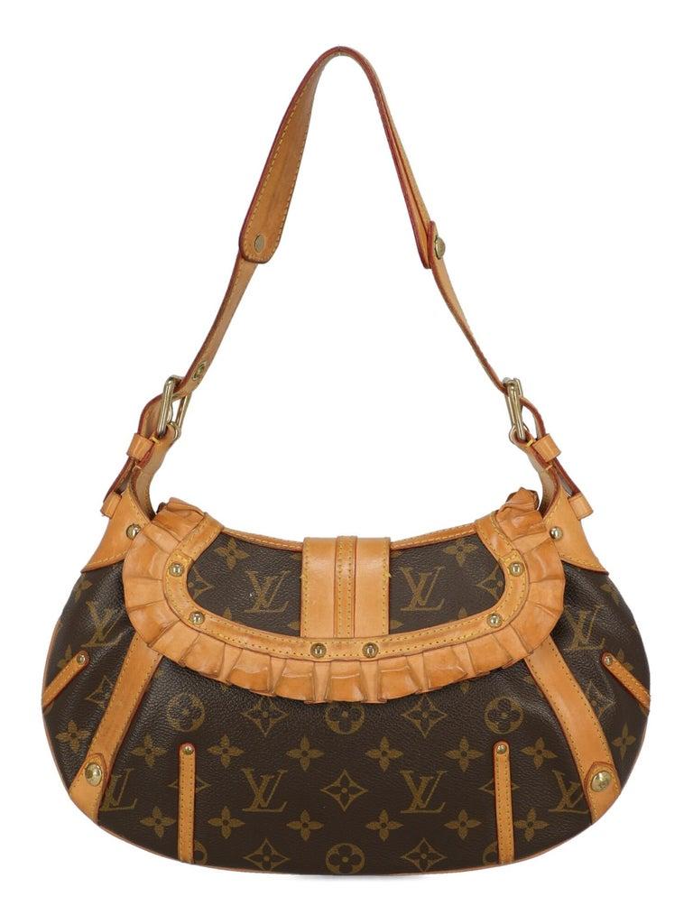 Women's Louis Vuitton Woman Shoulder bag Brown Synthetic Fibers For Sale