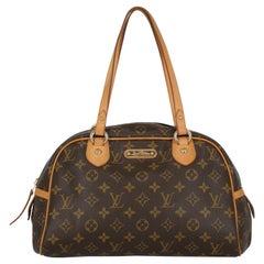Louis Vuitton Women  Shoulder bags Montorgueil Brown Synthetic Fibers