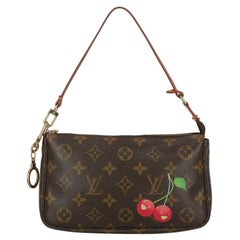Louis Vuitton Women  Shoulder bags Pochette Accessoires Brown Synthetic Fibers