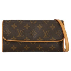 Louis Vuitton  Women   Shoulder bags  Twin Brown, Camel Color Synthetic Fibers