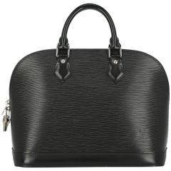 Louis Vuitton Women's Alma Black Leather